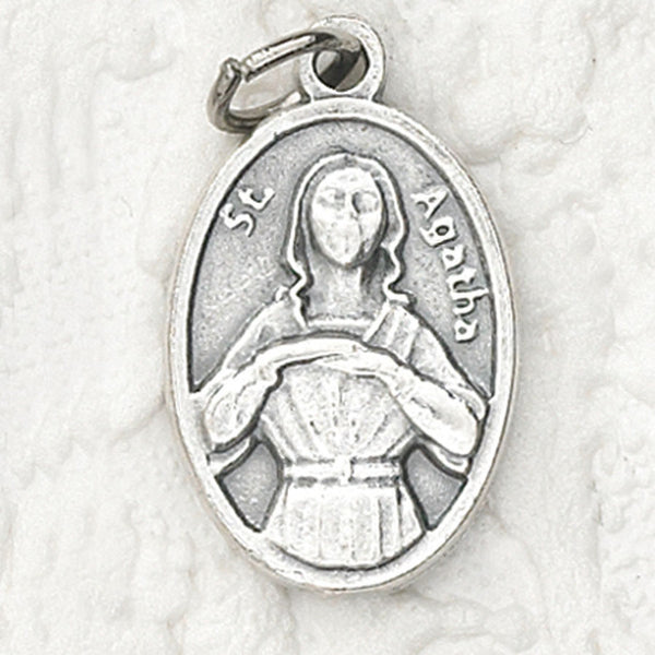 St. Agatha - 1 inch Pray for Us Medal