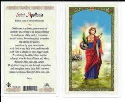 St. Apollonia Holy Card Laminate