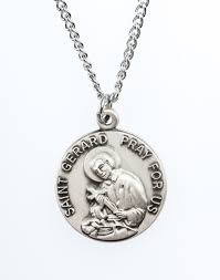 St. Gerard Pewter Medal Necklace with Holy Card