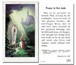 Our Lady of Lourdes Holy Card Laminate