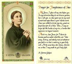 St. Gemma Galgani Holy Card Laminate