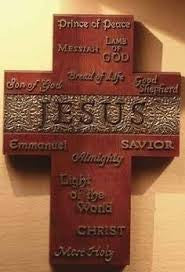 "8"" Jesus Wall Cross In His Name Collection for Roman Inc."