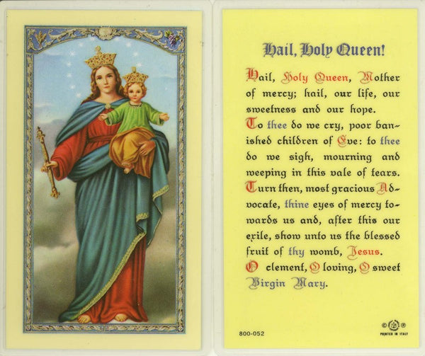 Hail, Holy Queen Holy Card Laminate