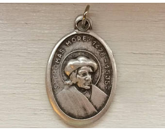 St. Thomas More - 1 inch Pray for Us Medal