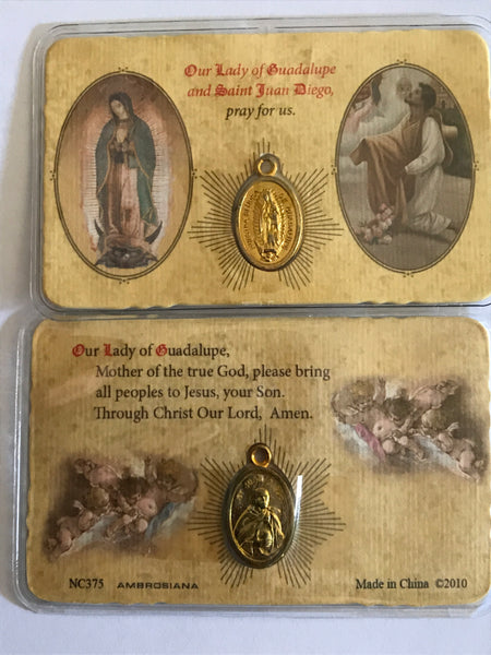 Our Lady of Guadalupe/Saint Juan Diego Pocket Prayer Card