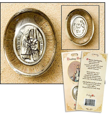 Saint Blaise Healing Saint Pocket Stone (Throat Ailments)