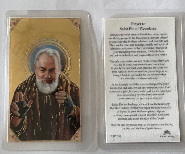 St Pio of Piertrelcina Holy Card