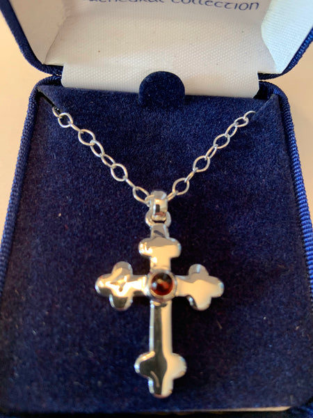 Trefoil Cross Sterling Silver from Cathedral Collection
