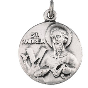 St. Andrew Sterling Silver Medal from Jeweled Cross