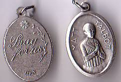 Matt Talbot - 1 inch Pray for Us Medal Oxidized
