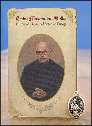 St. Maximillian Kolbe Addiction Healing Medal Set