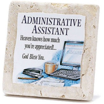 Administrative Assistant-Tile Tabletop Plaque From Dickson's Gifts