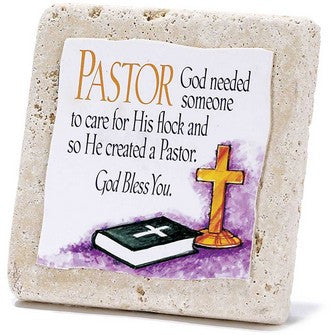 Pastor-Tabletop Tile Plaque