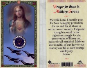 Air Force Prayer for Service Holy Card Laminate