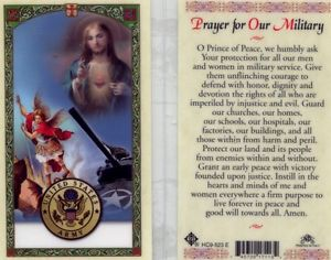 Army Prayer for Military Service Holy Card Laminate