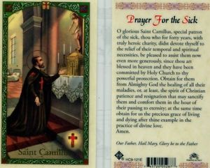 Prayer for the Sick Laminate Holy Card