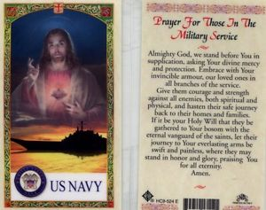 Navy Prayer for Those in Military Service Holy Card Laminate