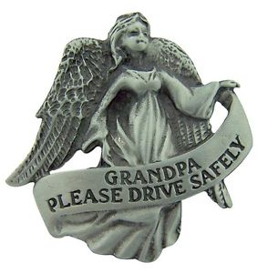 Grandpa Guardian Angel Visor Clip