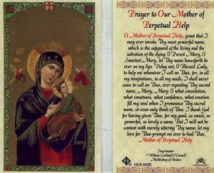 Prayer to Our Mother of Perpetual Help Laminate Holy Card