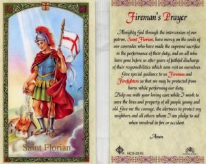 Fireman's Prayer St. Florian Holy Card Laminate