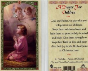 A Prayer for Children Holy Card Laminate