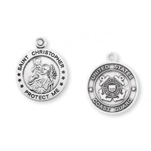 Coast Guard Saint Christopher Sterling Silver Round Medal