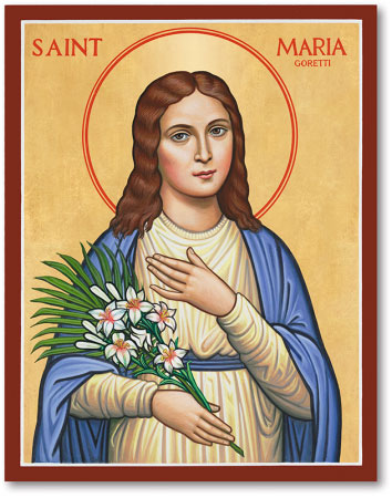 St. Maria Goretti Icon 8x10 from Monestary Icon