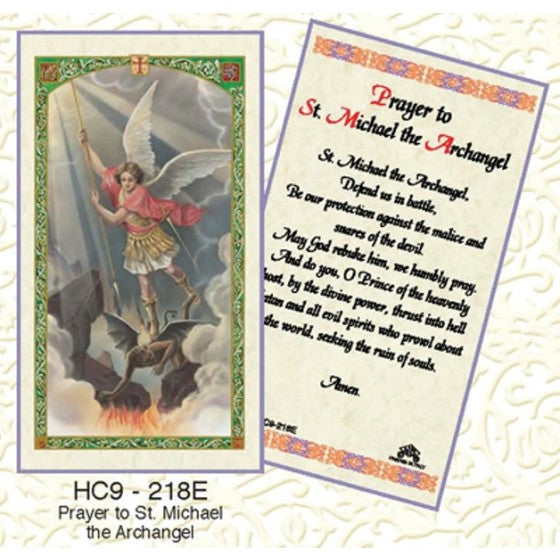 St. Michael the Archangel Holy Card Laminate