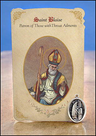 St. Blaise Throat Healing Medal Set
