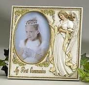 "First Communion Guardian Angel Frame Holds 3.5""x5"" Photo"