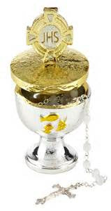 "First Communion Chalice Rosary Holder 4""H"