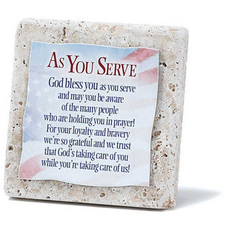 As you Serve-Tabletop Tile Plaque
