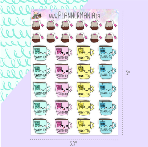 Tea Emotion Stickers