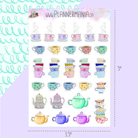 Tea Time Stickers