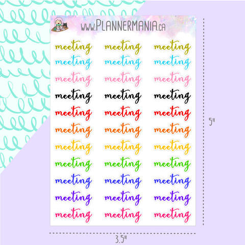 Meeting Stickers Multicolor