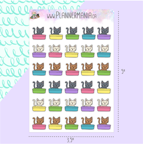 Cat Litter Box Stickers