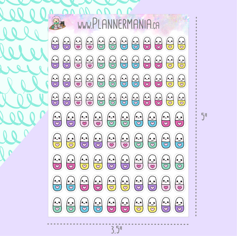 Tiny Pill Stickers