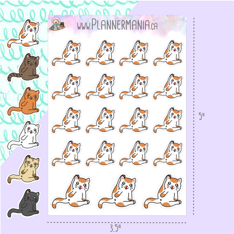 Cat Butt Stickers - Choose Your Color!