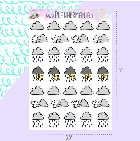 Bad Weather Planner Stickers
