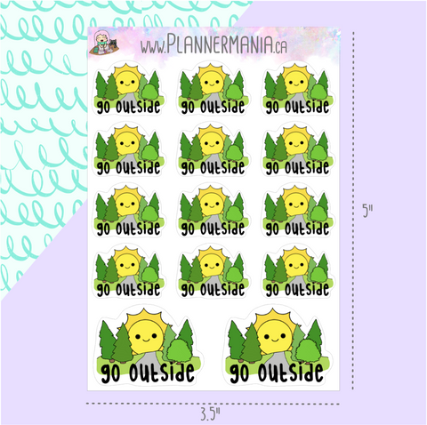 Go Outside Stickers