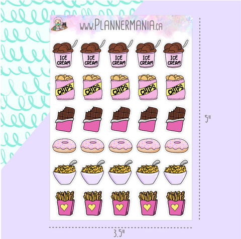 Comfort Food (Version 1) Stickers