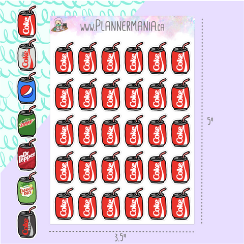 Pop / Soda Can Stickers