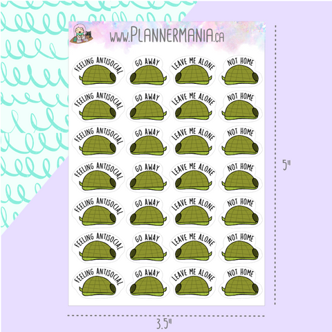 Antisocial Turtle Stickers