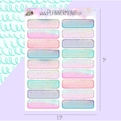 Label Glitter Stickers