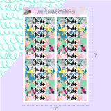 Floral To Do Header Stickers