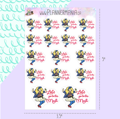 "Robin Sparkles ""Let's Go To The Mall"" Stickers"