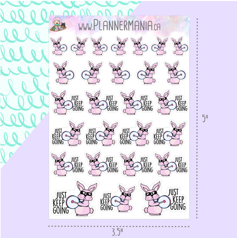Energetic Bunny Stickers