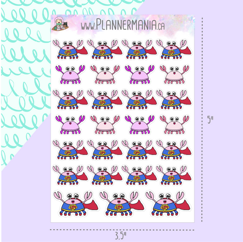 Super Crabby Stickers