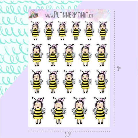 Busy Bee Planner Stickers