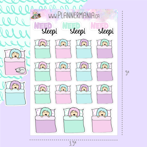 Need Sleep Stickers